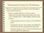 structured analysis problems