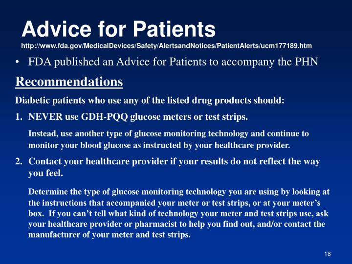 Advice for Patients