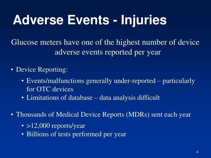 Adverse Events - Injuries