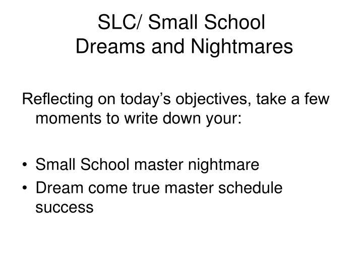 Slc small school dreams and nightmares
