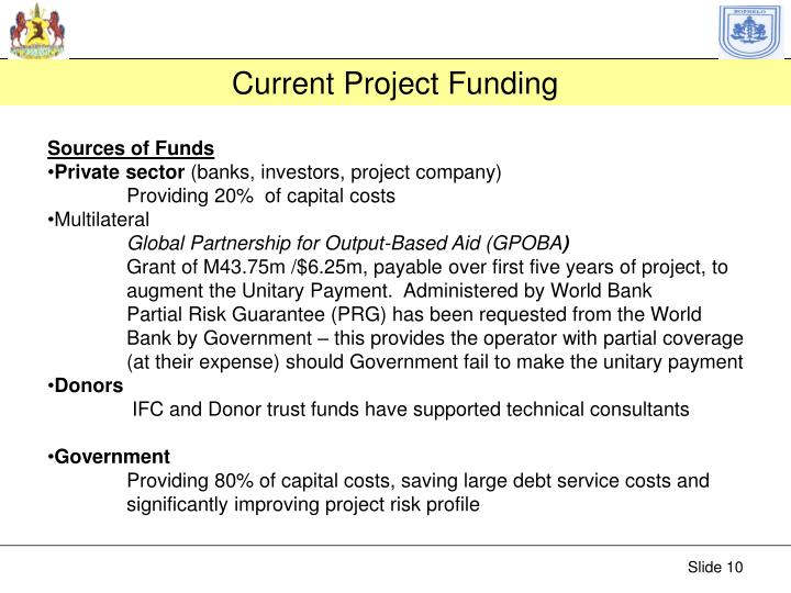 Current Project Funding