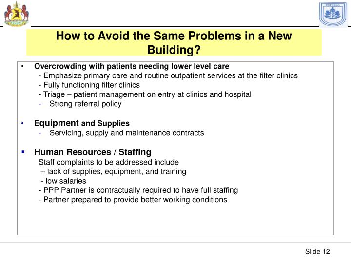 How to Avoid the Same Problems in a New Building?