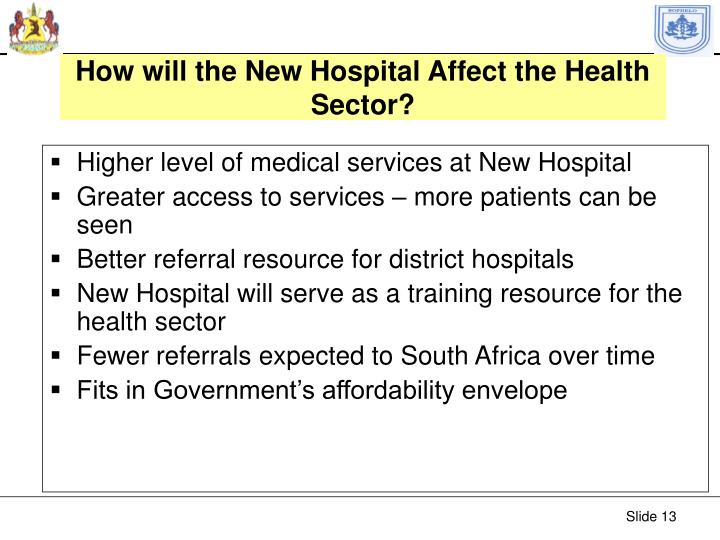 How will the New Hospital Affect the Health Sector?
