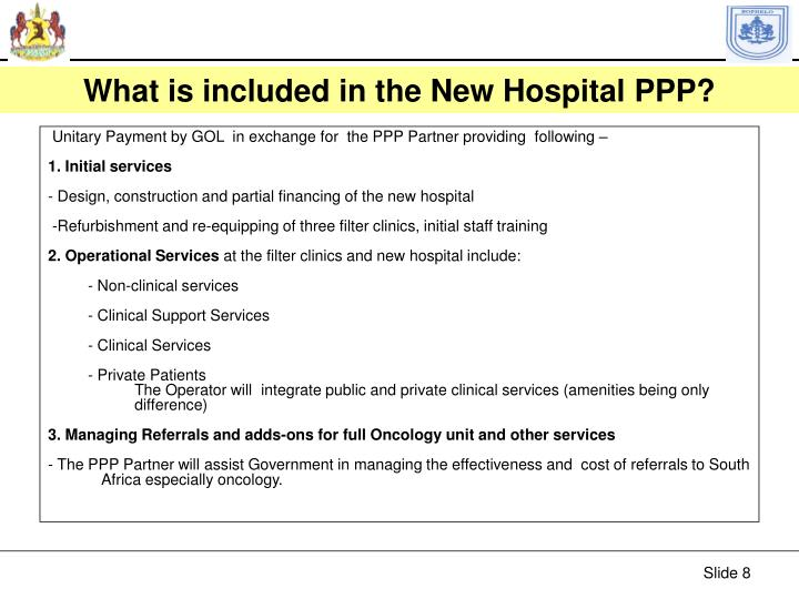 What is included in the New Hospital PPP?