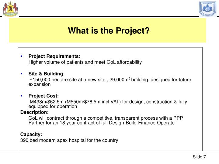 What is the Project?