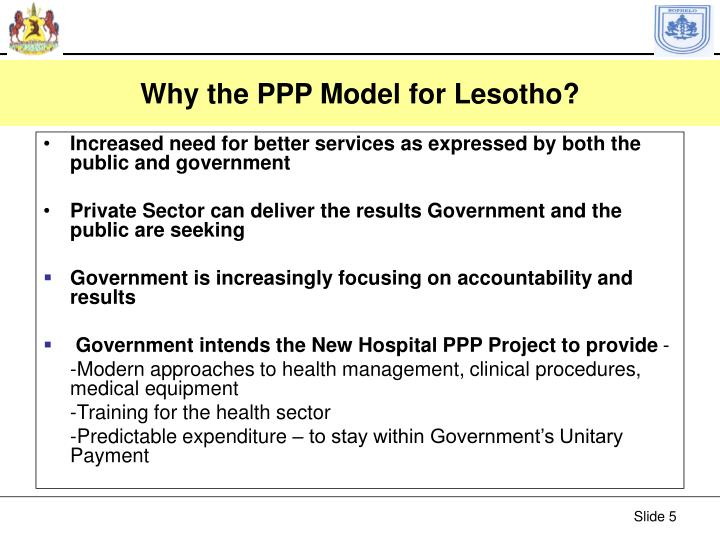 Why the PPP Model for Lesotho?