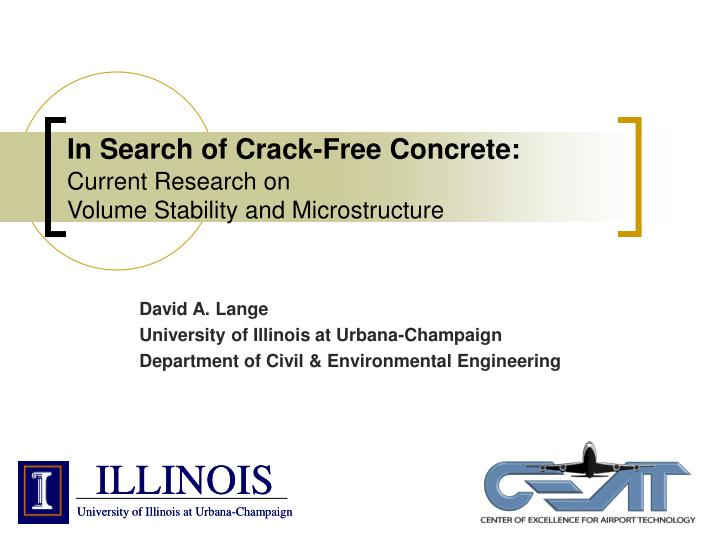 In search of crack free concrete current research on volume stability and microstructure