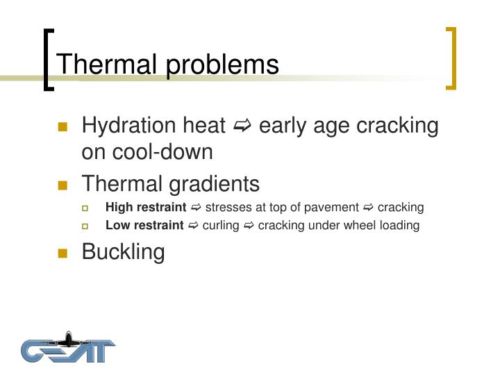 Thermal problems