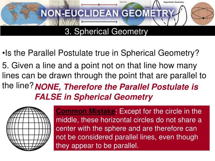 3. Spherical Geometry