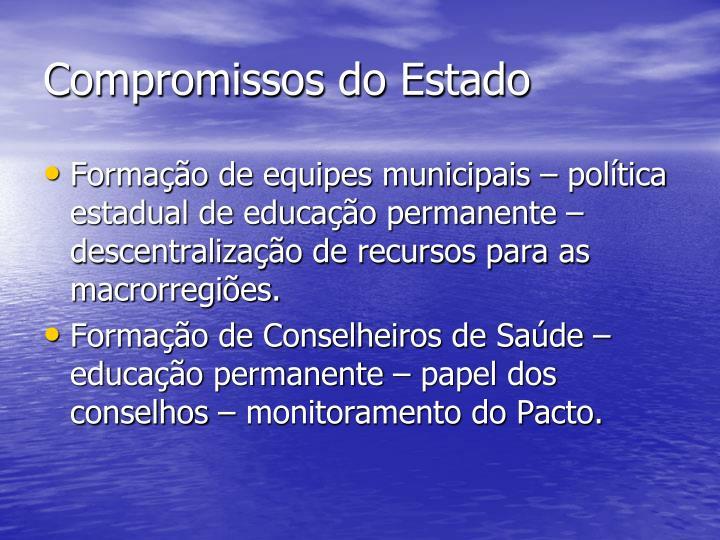 Compromissos do Estado
