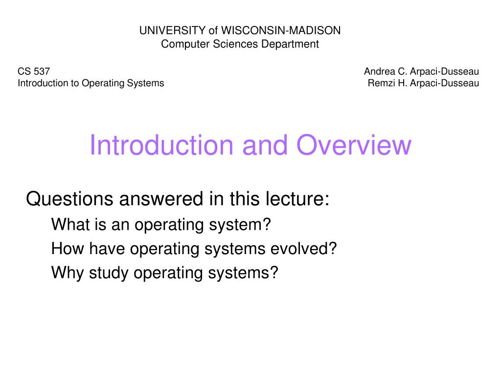 introduction and overview l.