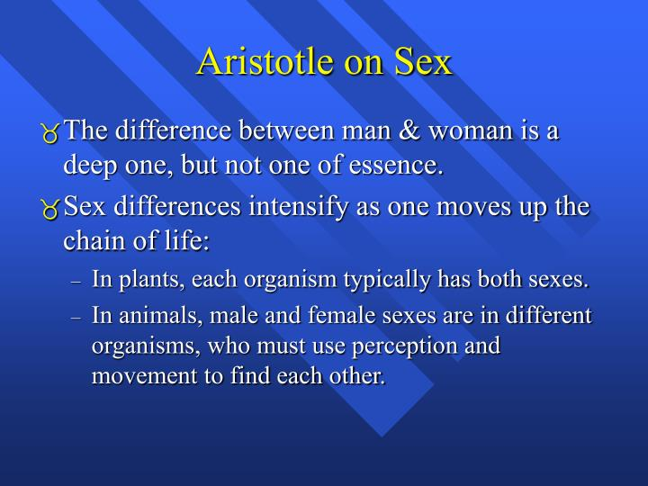 Aristotle on Sex