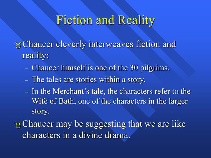 Fiction and Reality