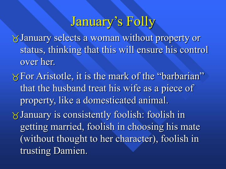 January's Folly