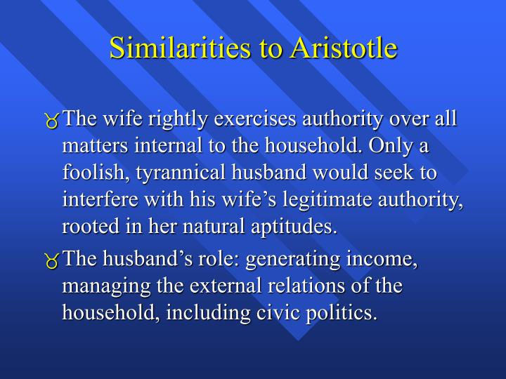 Similarities to Aristotle