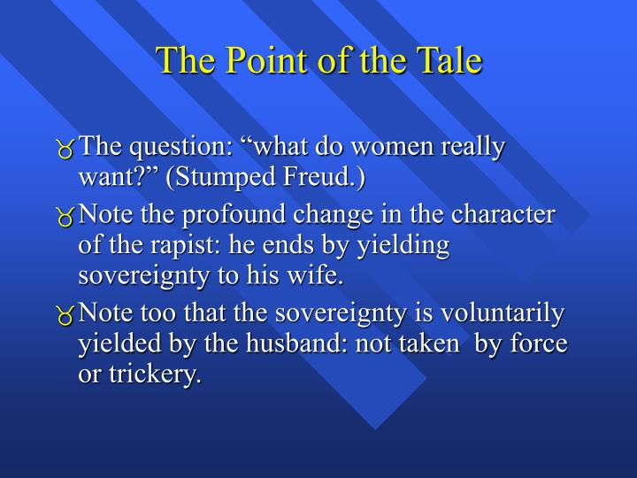The Point of the Tale