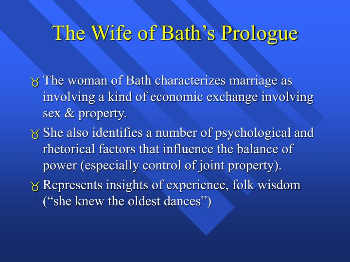 The Wife of Bath's Prologue