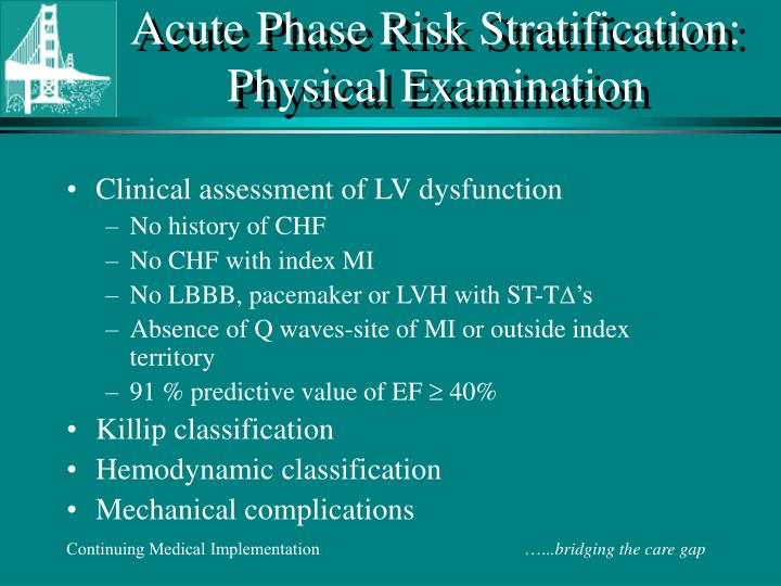 Acute Phase Risk Stratification: