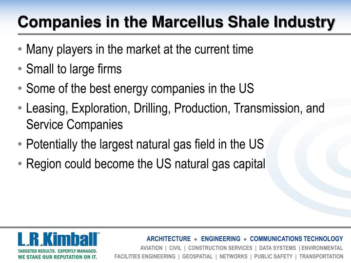 Companies in the Marcellus Shale Industry