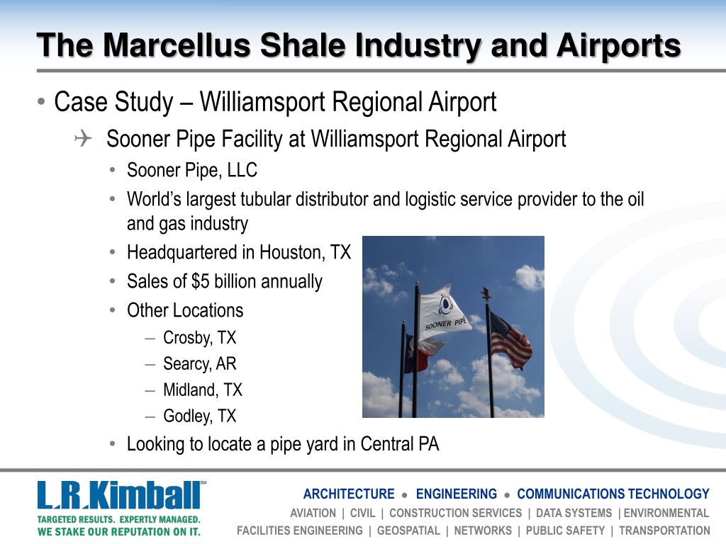 PPT - Airports and Marcellus Shale And Marcellus Shale Case
