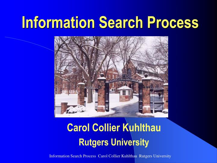 information search process n.