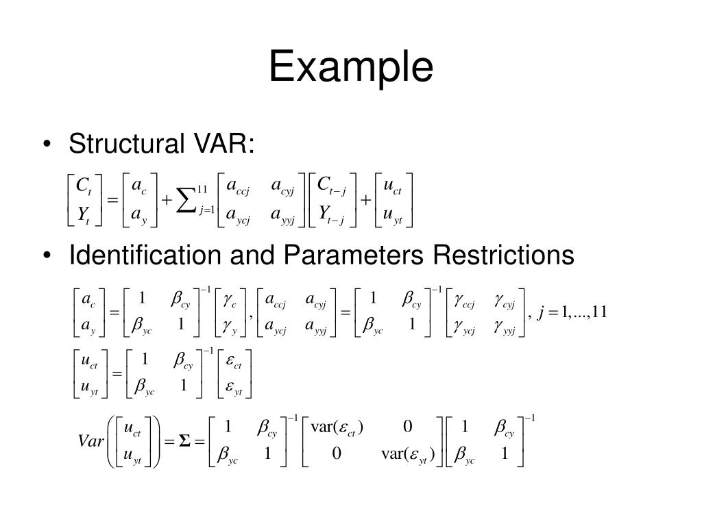 PPT - VAR and VEC PowerPoint Presentation - ID:1274667