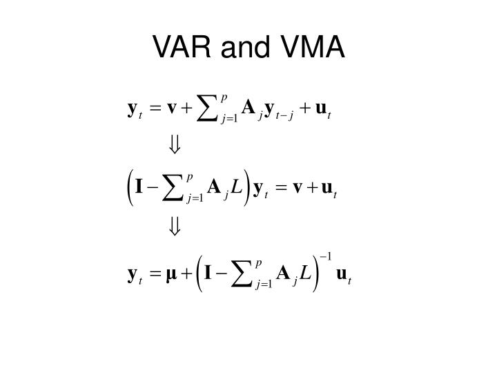 VAR and VMA