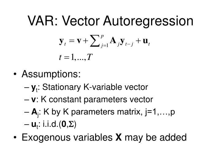 Var vector autoregression