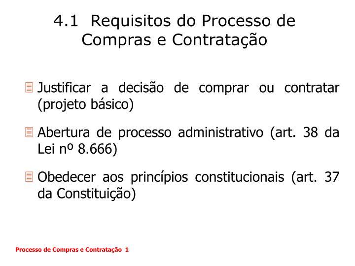 4.1  Requisitos do Processo de Compras e Contratação