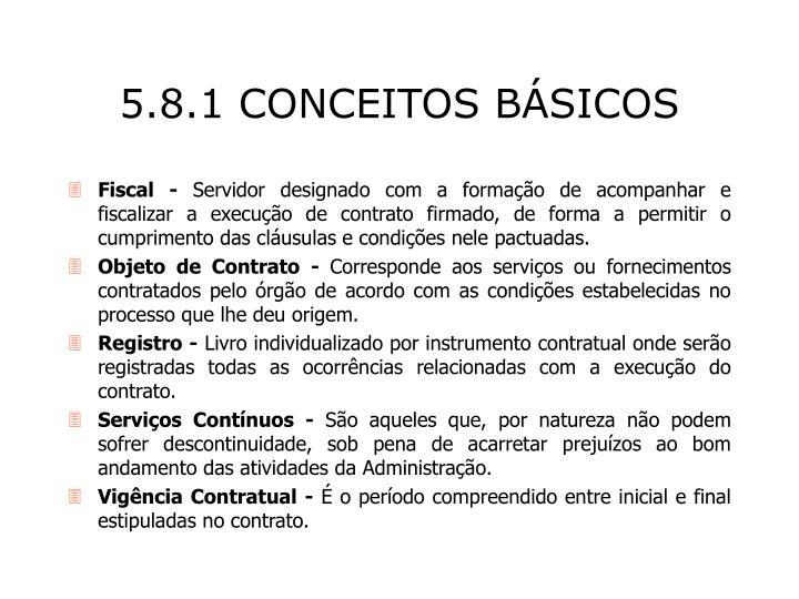 5.8.1 CONCEITOS BÁSICOS