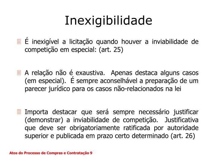 Inexigibilidade