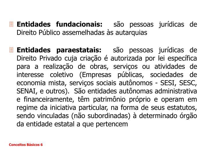 Entidades fundacionais: