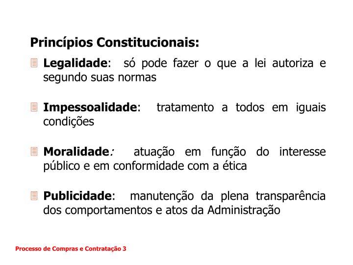 Princípios Constitucionais: