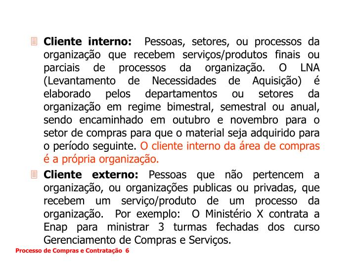 Cliente interno: