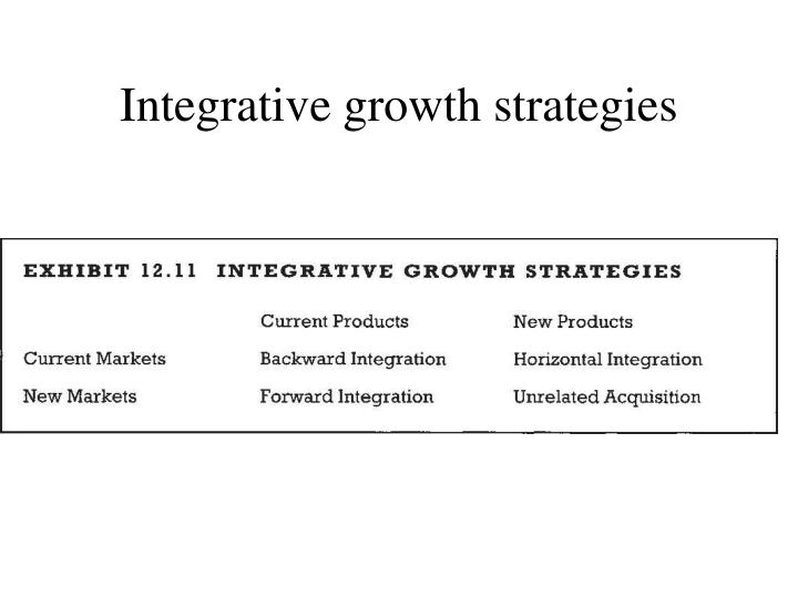 Integrative growth strategies