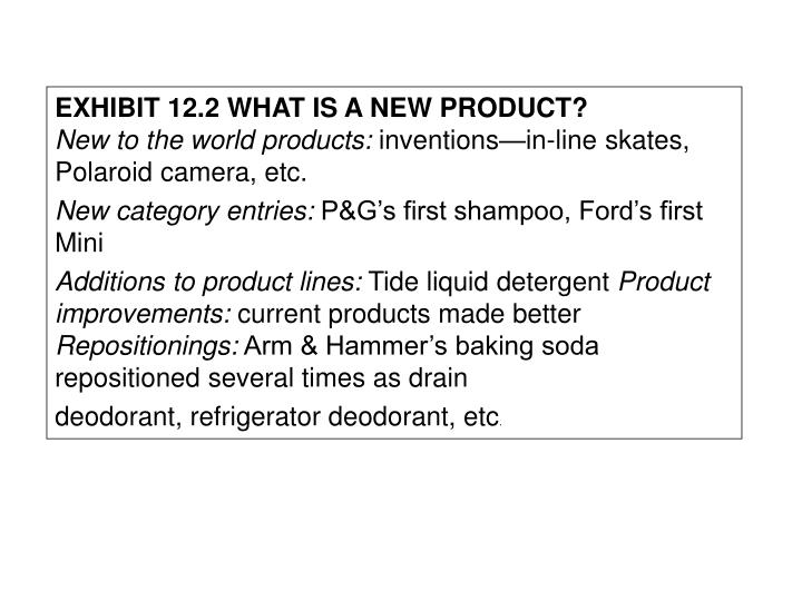 EXHIBIT 12.2 WHAT IS A NEW PRODUCT?