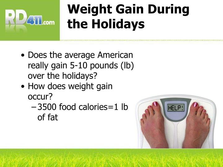 Weight Gain During the Holidays