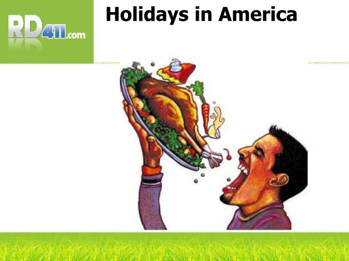 Holidays in America