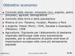 obbiettivi economici