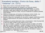 precedenti teologici enrico da susa detto l ostiense m 1271