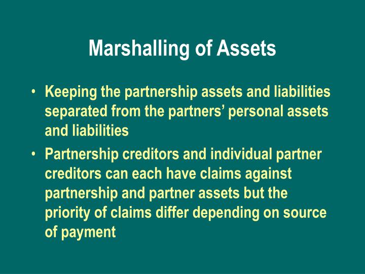 Marshalling of Assets