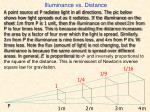 illuminance vs distance