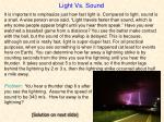 light vs sound