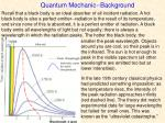 quantum mechanic background