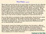 thin films cont