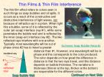 thin films thin film interference