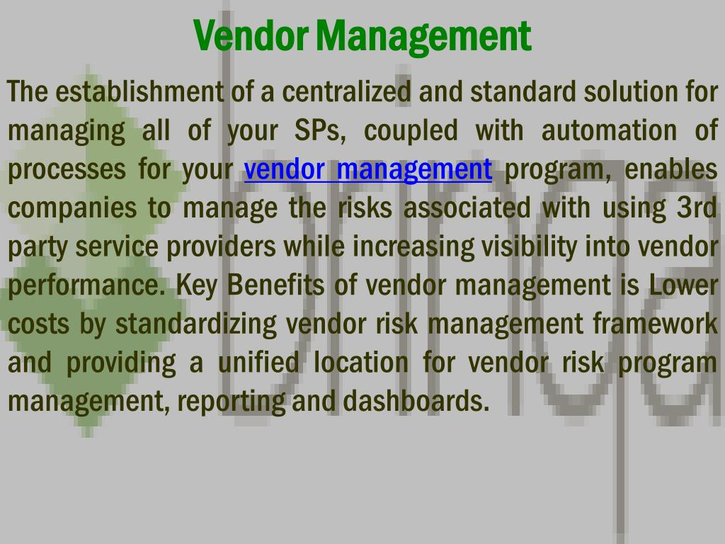 vendor management l.