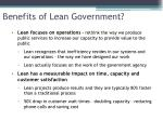 benefits of lean government