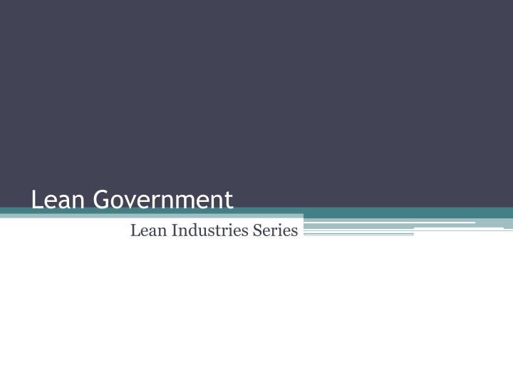 lean government