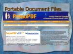 portable document files